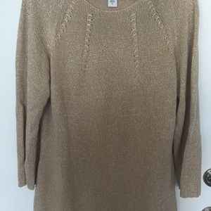 ABSOLUTELY GORGEOUS JACLYN SMITH GOLD SWEATER. 1X